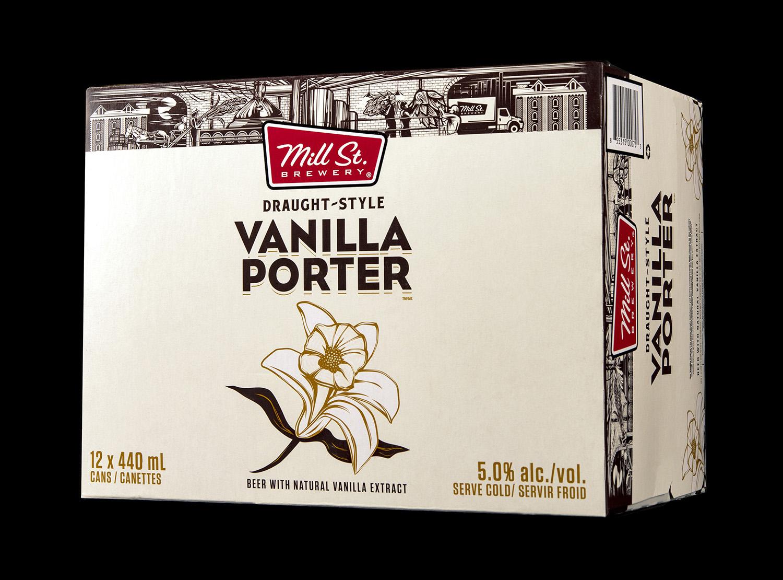 Mill Street Brewing Branding and Packaging 2018 Seasonal Release Vanilla Porter