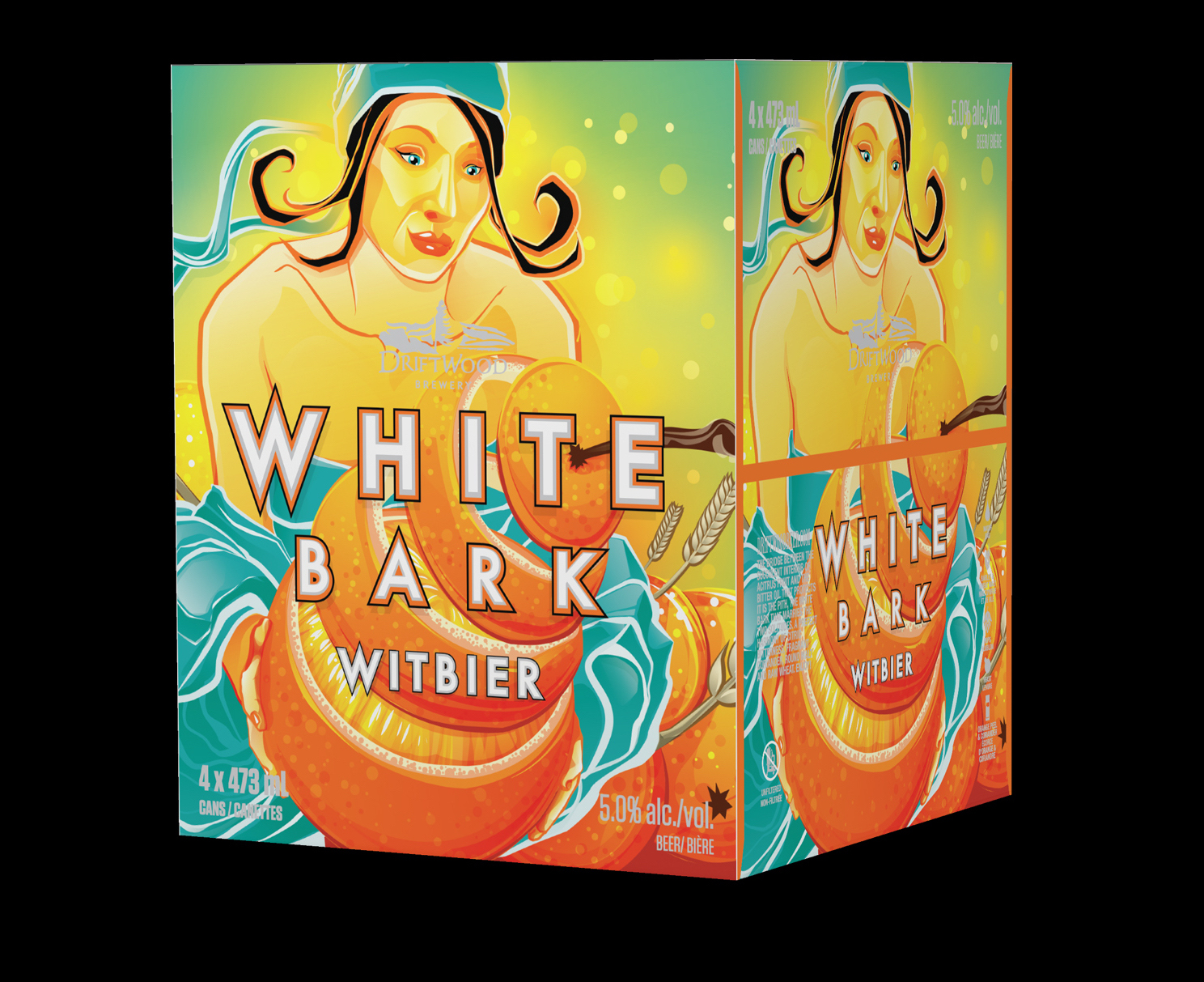 Box Design for Driftwood Brewery's White Bark