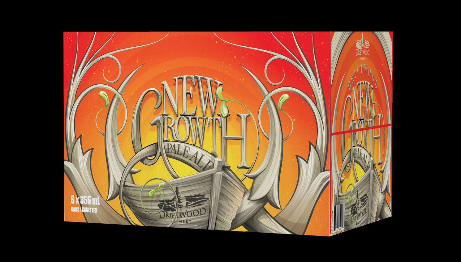 Box Design for Driftwood Brewery's New Growth Box