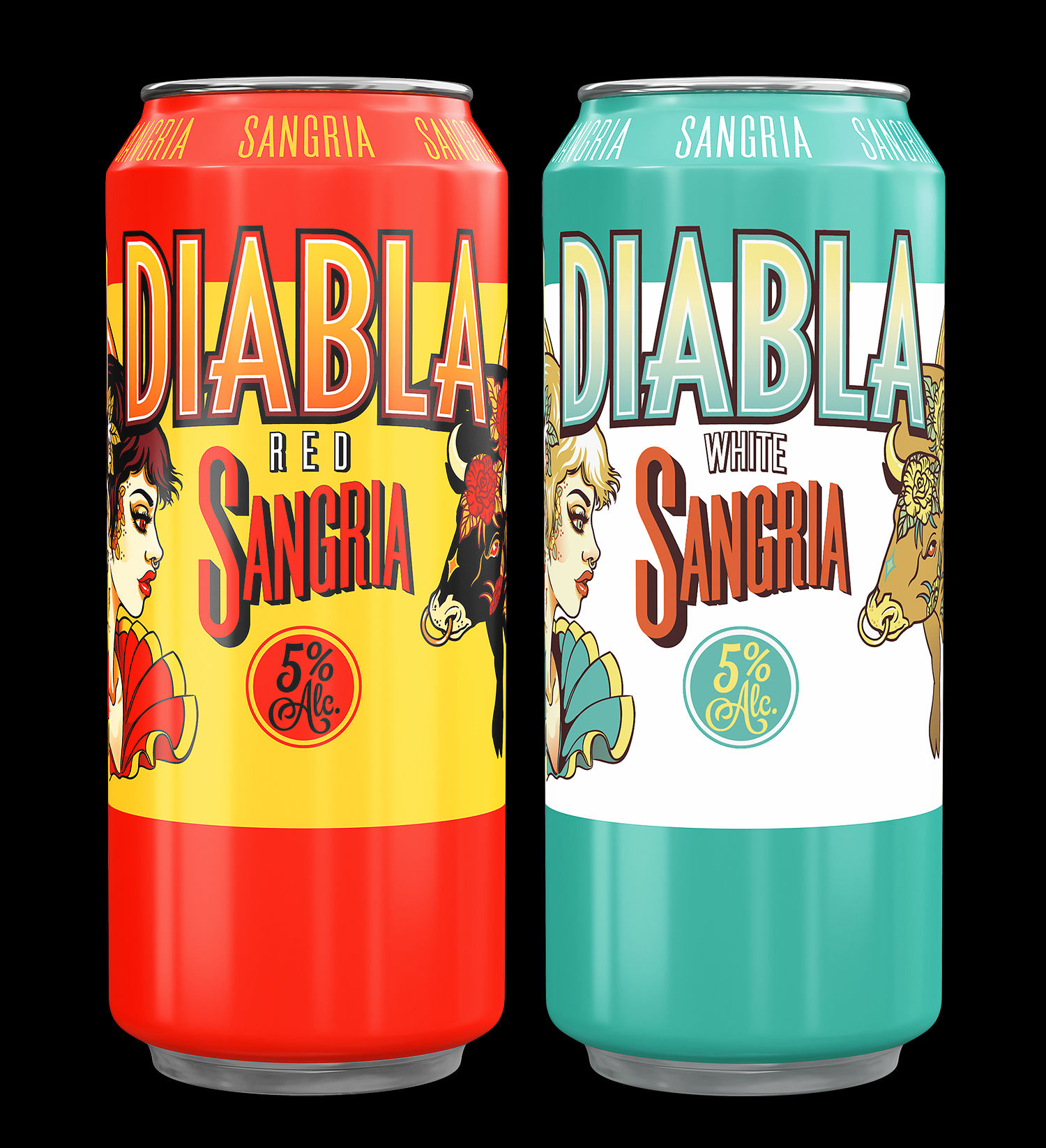 Package and Branding Design for red and white Diabla Sangria