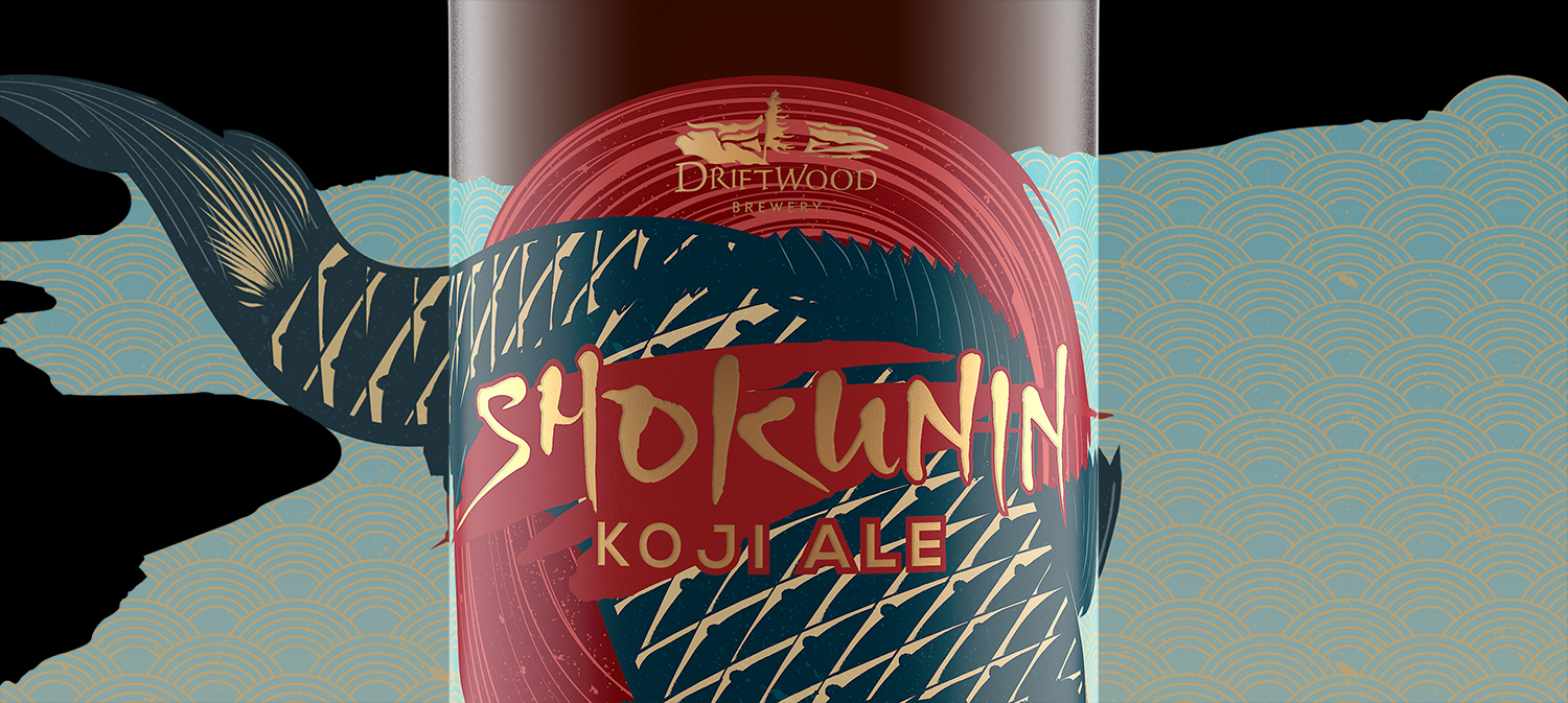 Shokunin Koji Ale Packaging and Branding for Driftwood Brewery