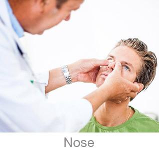 ent nose checkup man