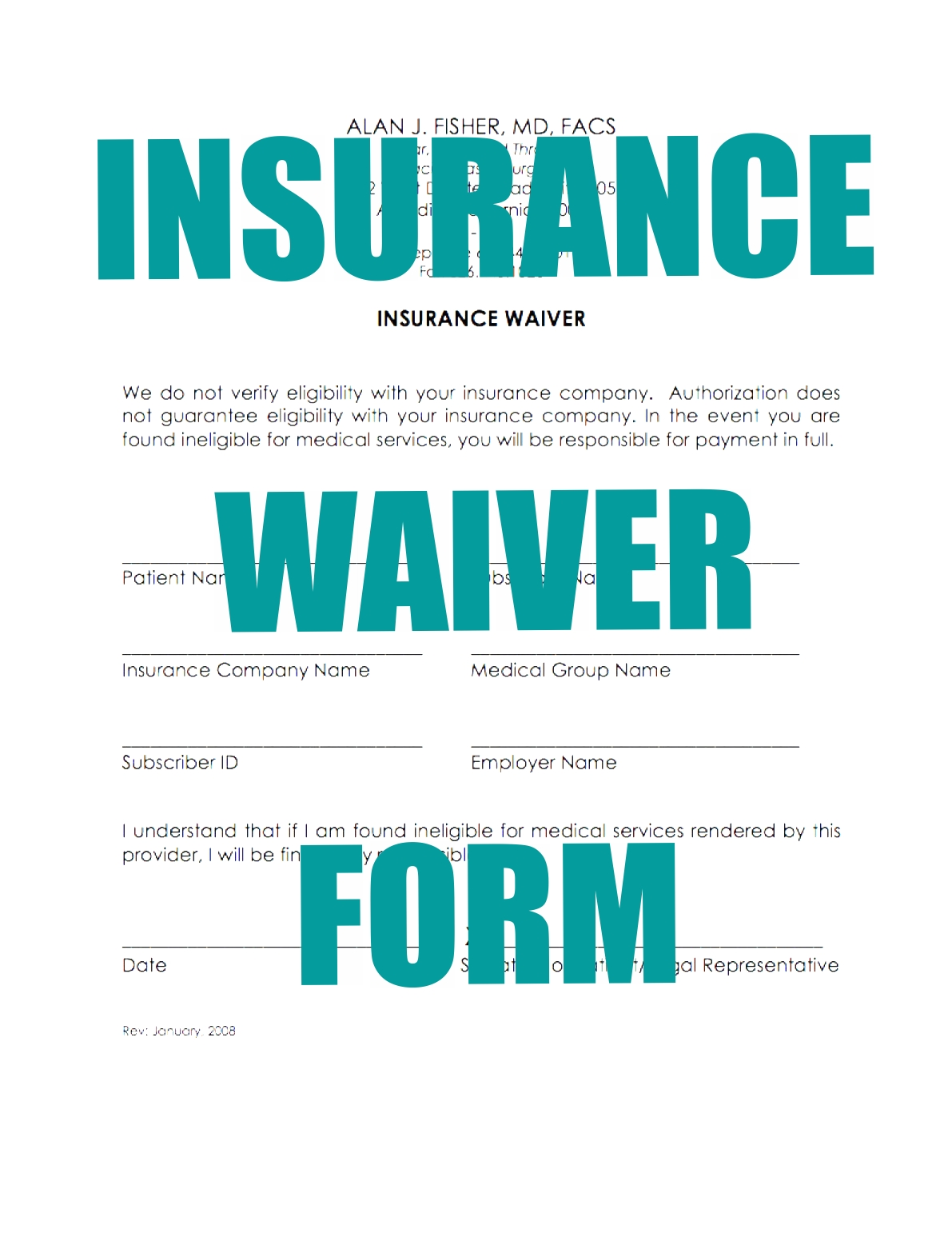 Insurance Waiver - click to open
