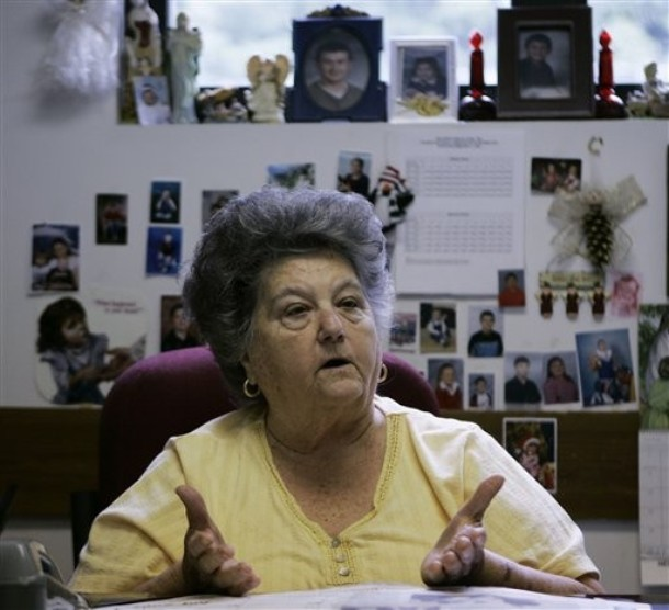 Eula in her office (2012)