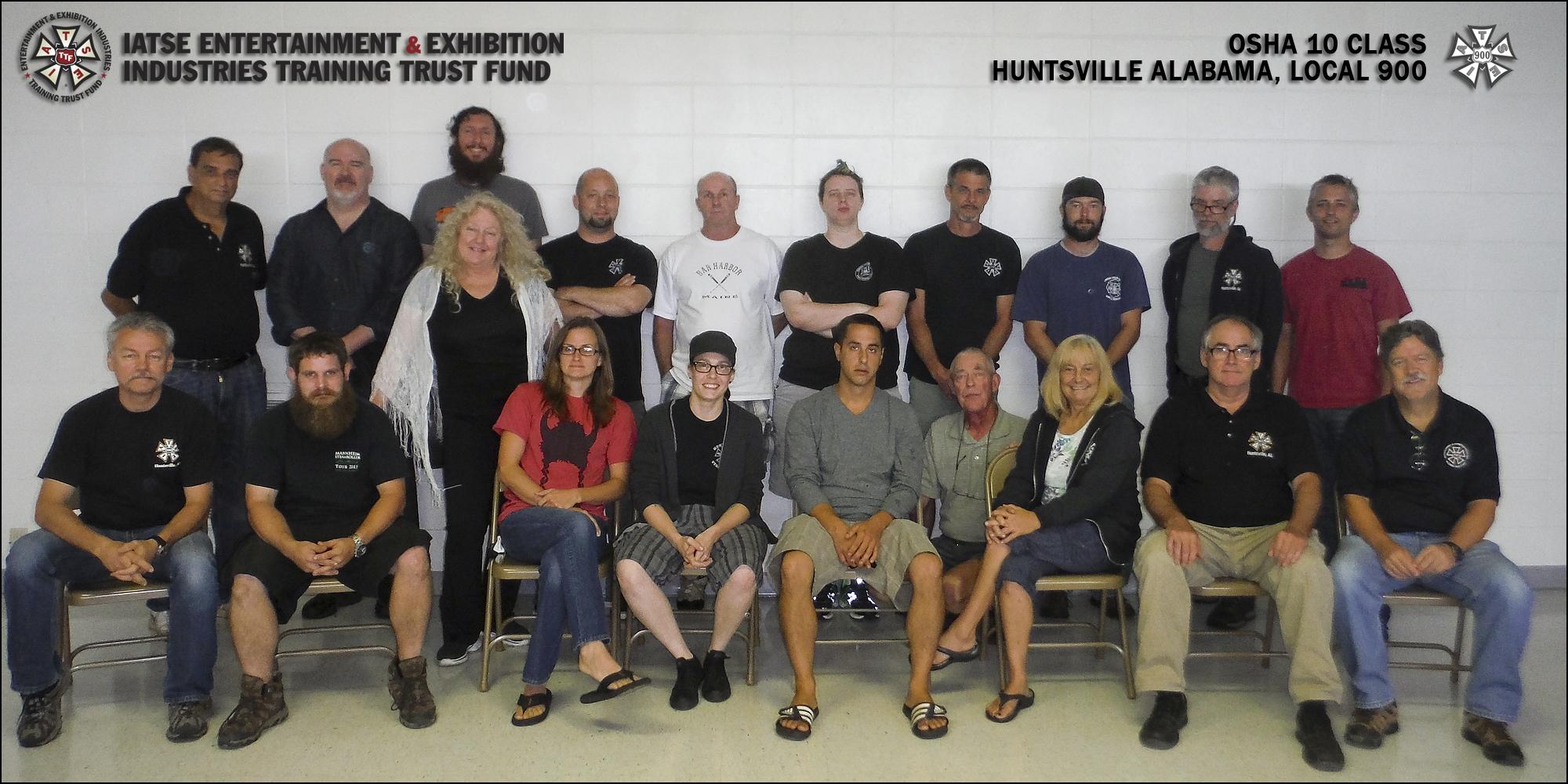 OSHA 10/General Entertainment Safety in Huntsville, AL | August 30, 2015