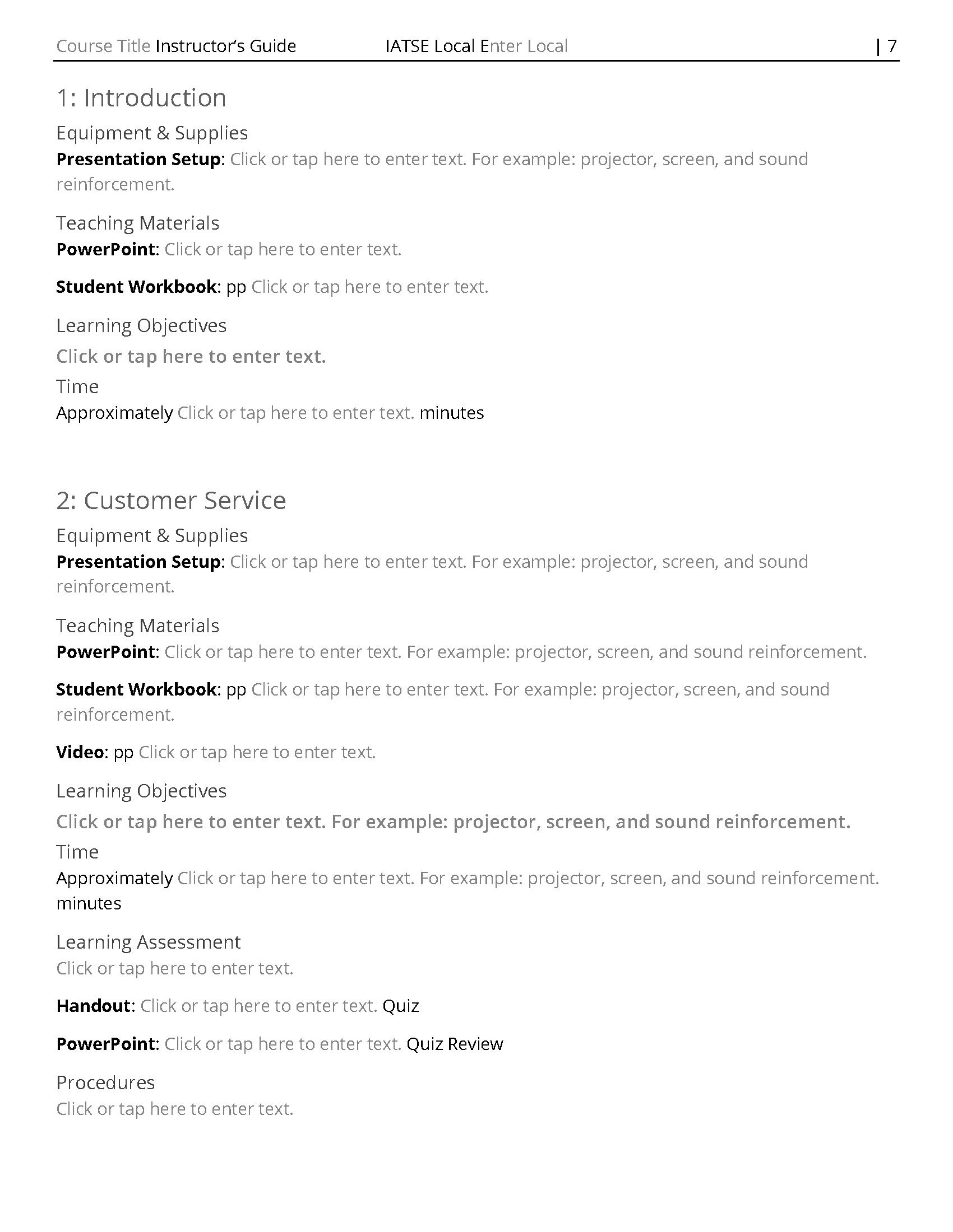 Training Document Template from images.squarespace-cdn.com