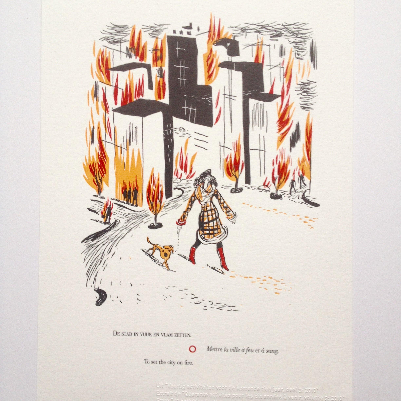 De stad in vuur en vlam zetten