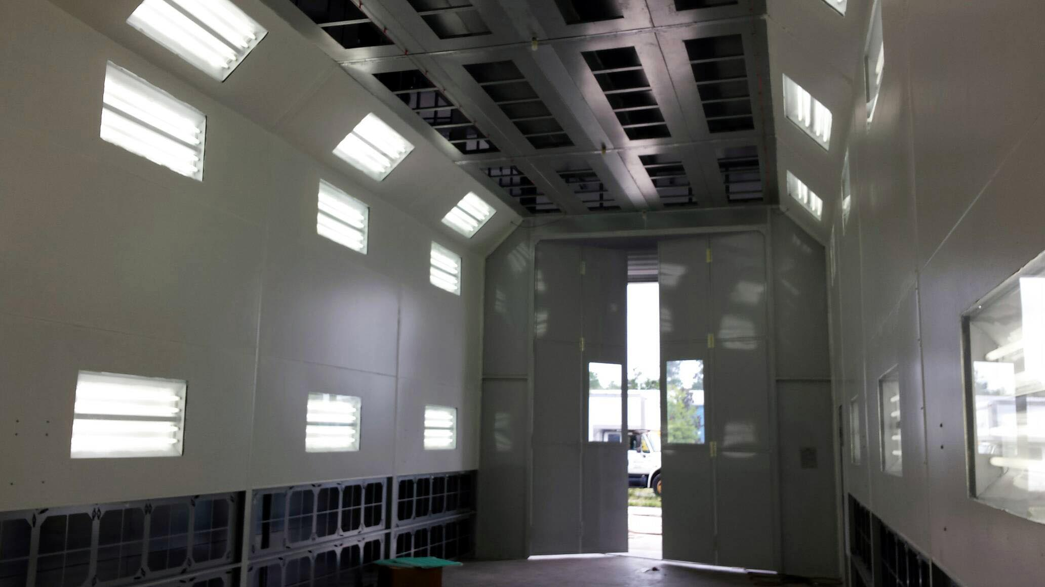An Interior View of our Massive Paint Booth.