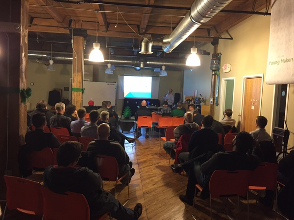 Matt simms delivers iot presention at gr makers