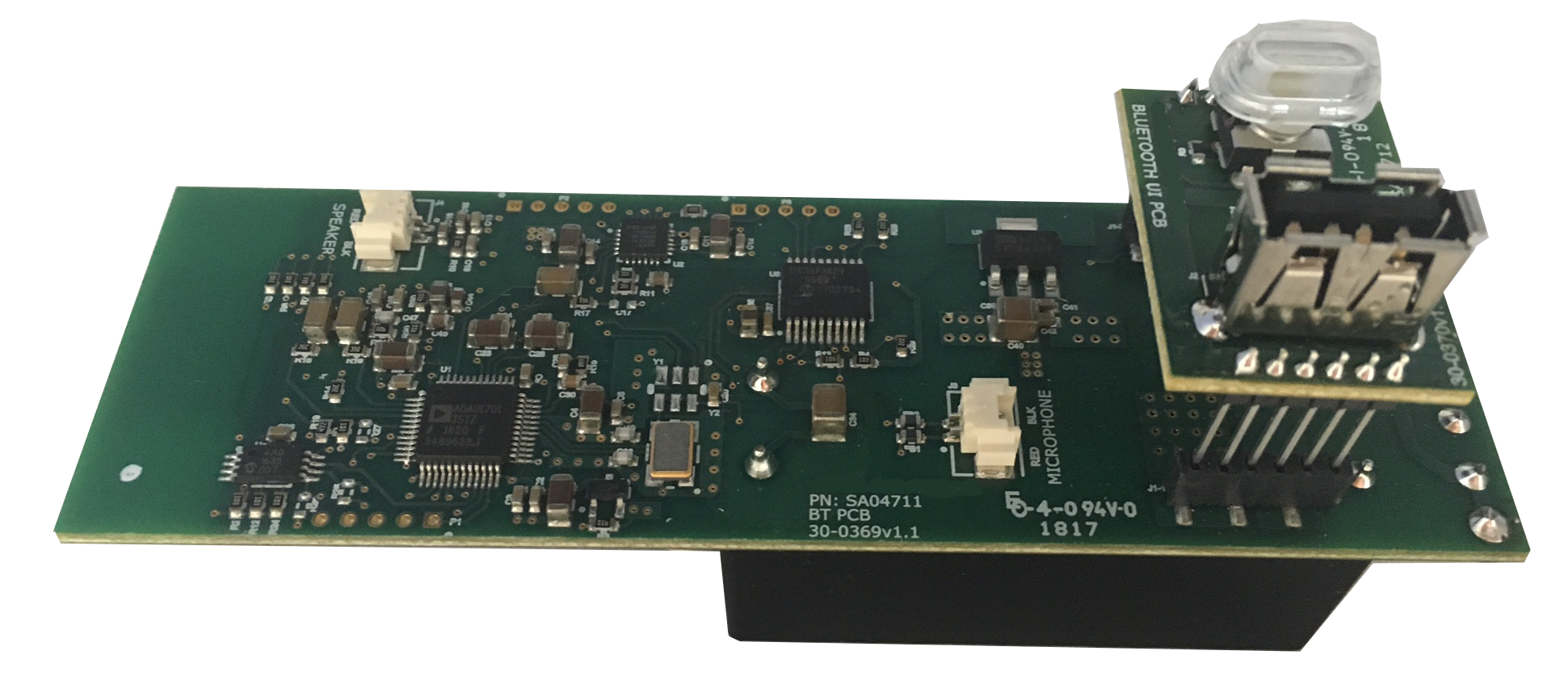 main pcb with power supply