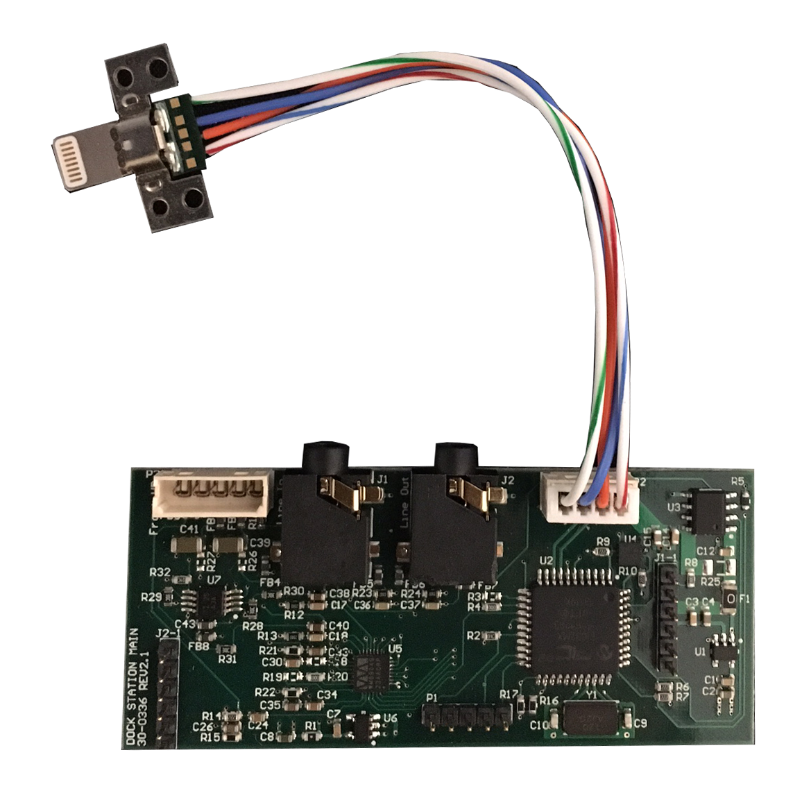 Main pcb with connector