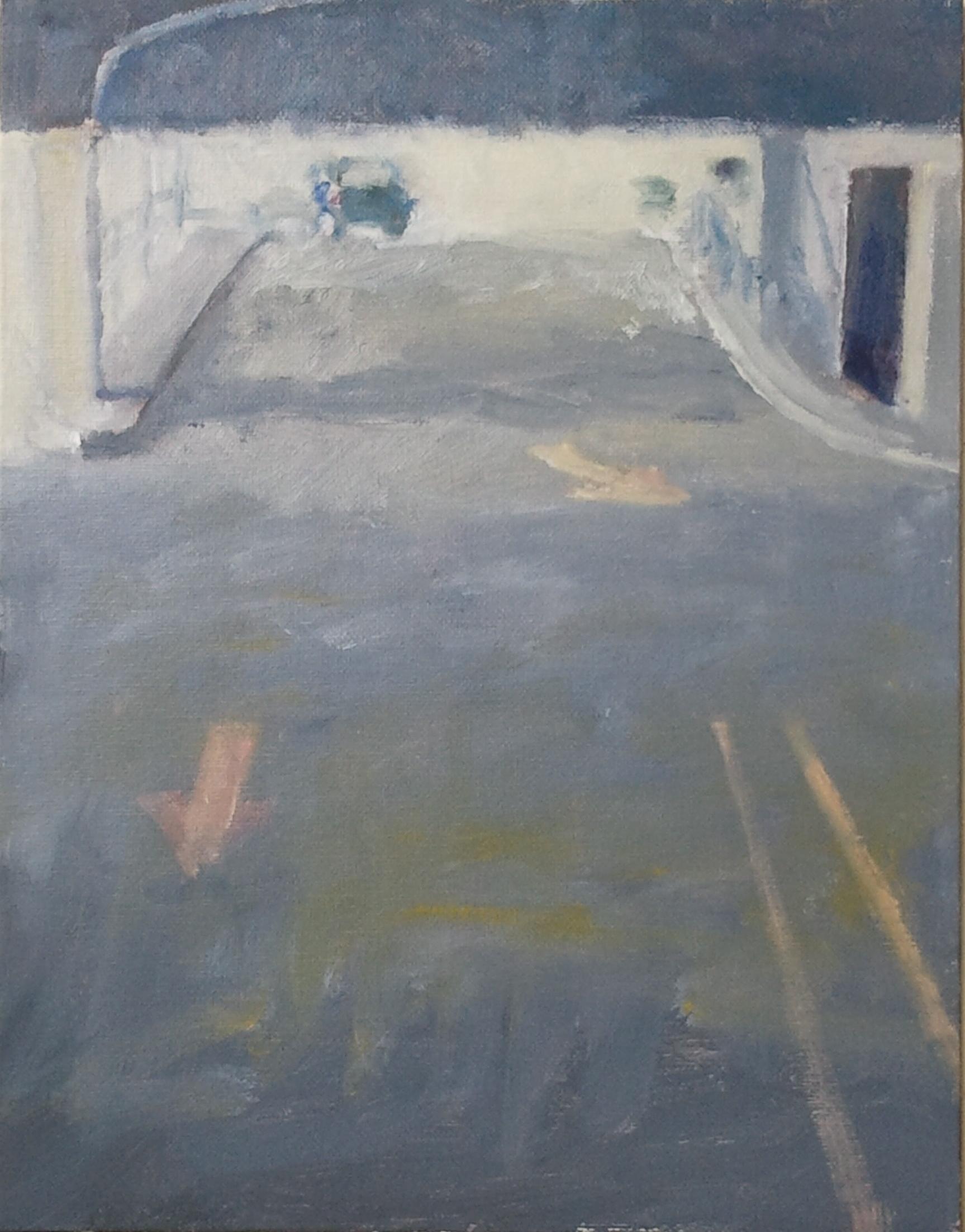 """Parking Arrows,"" 11""x14"", oil on canvas."