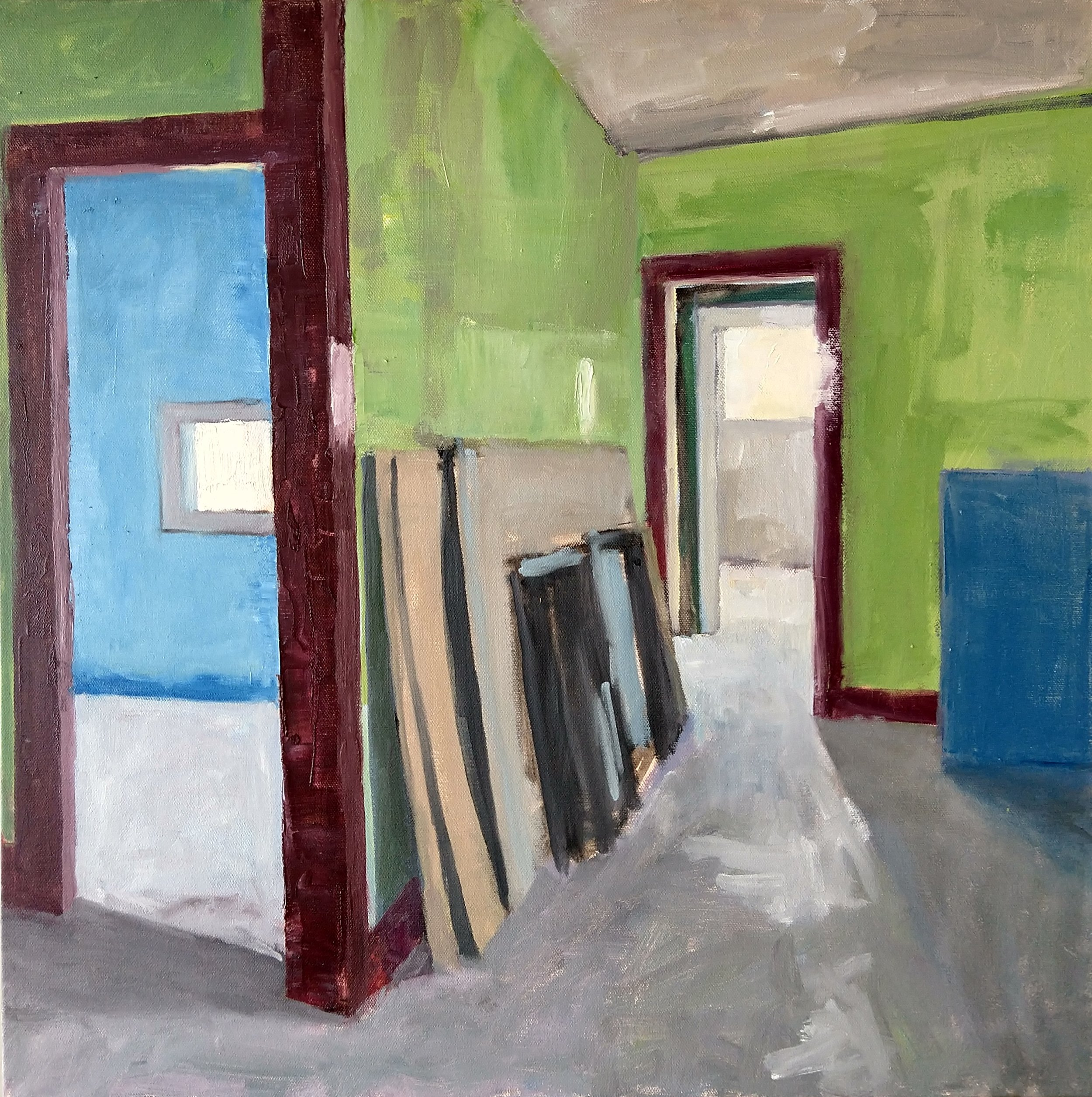 Two Rooms, Blue and Green