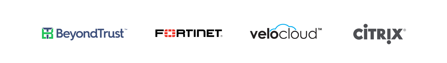BeyondTrust, Fortinet, VeloCloud, Citrix
