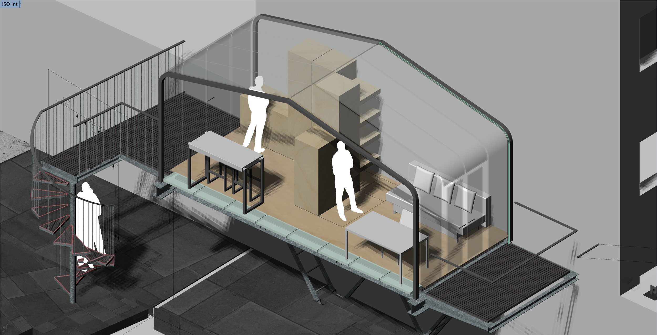 The internal layout was designed to allow for flexible configurations, using bespoke modular furniture