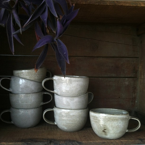 I'm so impressed with these Clam Lab Stoneware mugs. I've been looking for the perfect cup for coffee and tea for months. These are absolutely gorgeous and come in three natural colors.