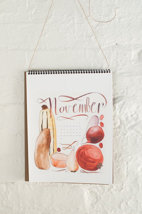 The cutest illustrated calendar including seasonal produce specific to each month. Also, from Cara -- the editor of Chickpea Magazine!