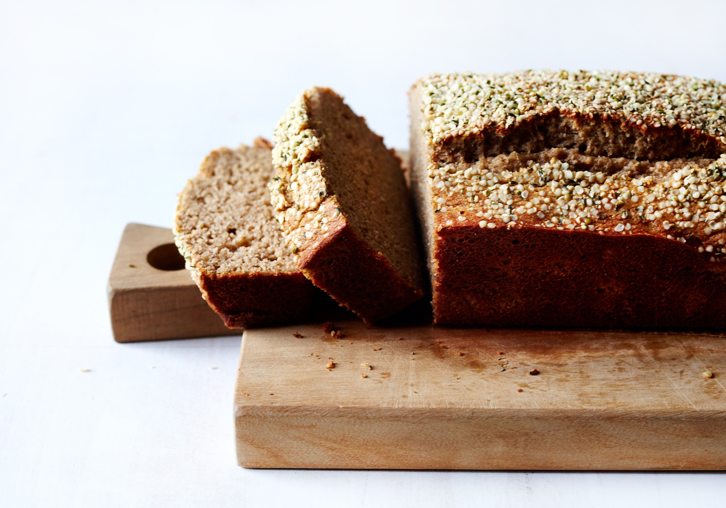 Maple Banana Bread with Hempseeds (GF, V)