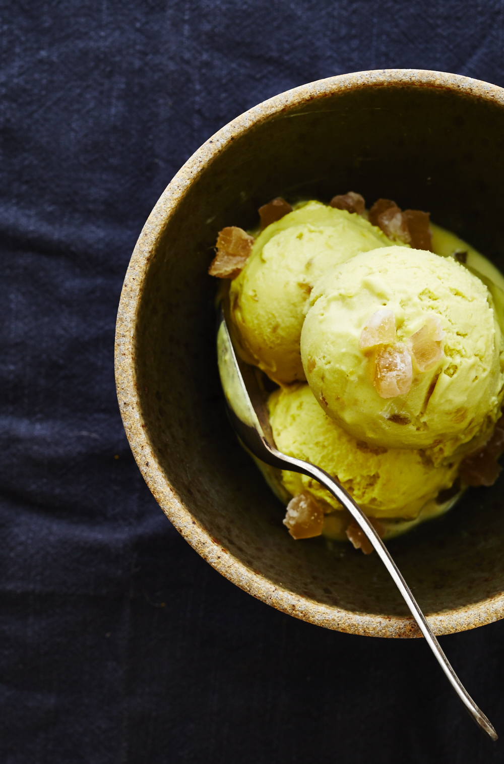 Turmeric & Candied Ginger Ice Cream (GF, V+)