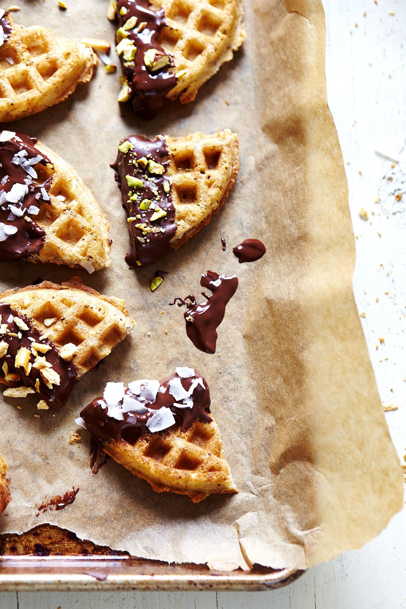 Chocolate-Covered Waffle Bites (GF, V)