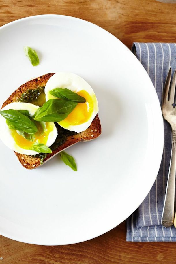 Pesto & Soft-boiled Egg Toast (GF, V)