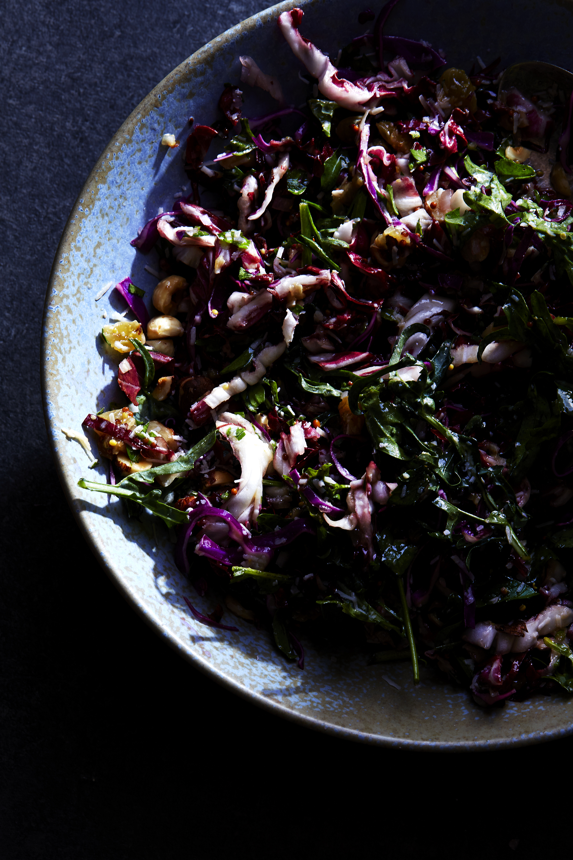 Radicchio Salad with Hazelnuts, Parsley, Parmesan (GF, V)