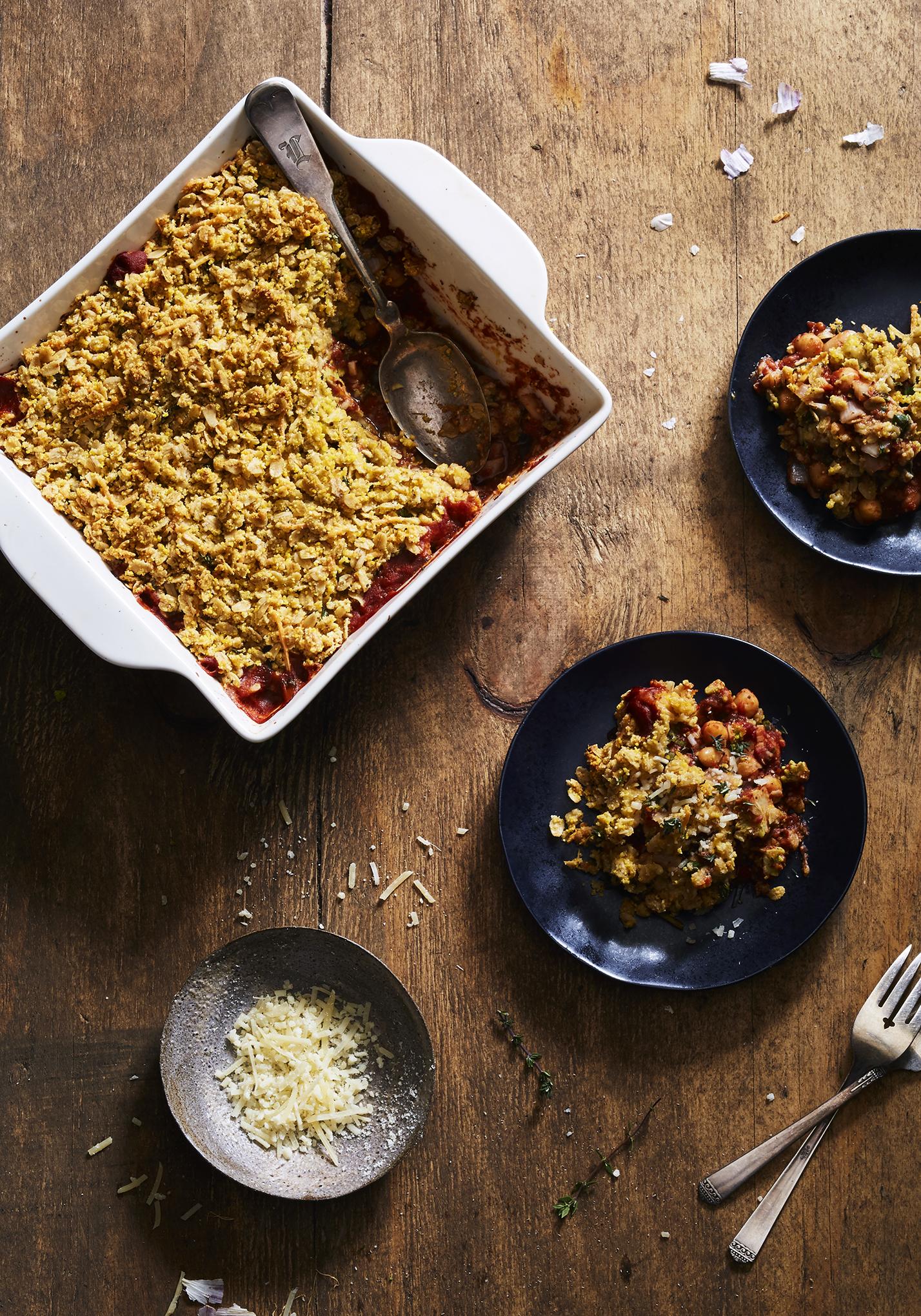 Savory Oat & Tomato Crumble w/ Parmesan (GF, V)