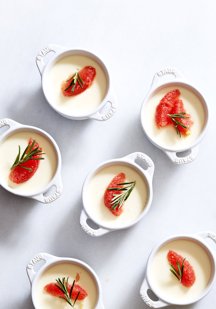 Creme Fraiche Panna Cotta & Ginger-Poached Grapefruit (GF, V)