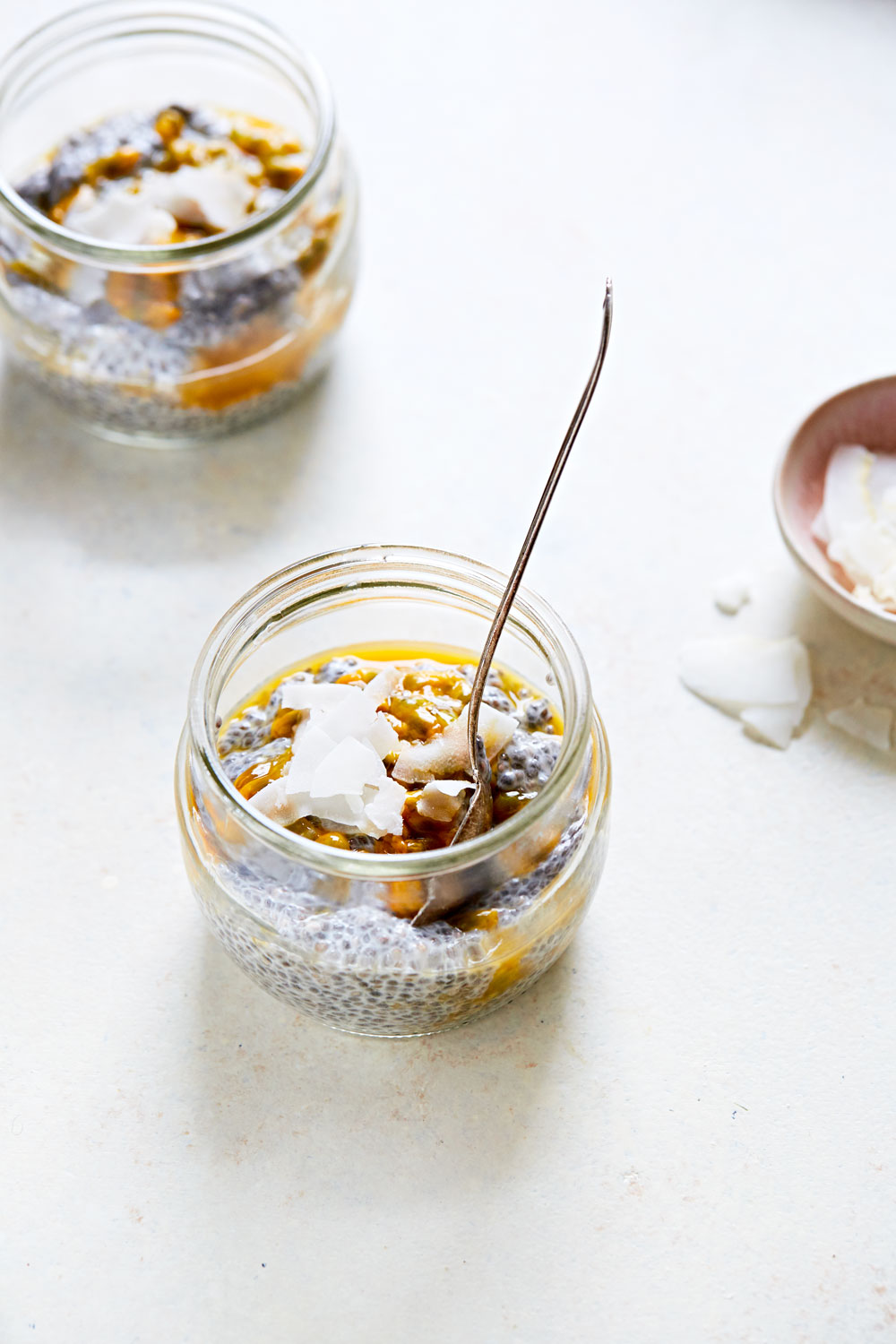 Creamy Coconut & Passion Fruit Chia Pudding (GF, V+)