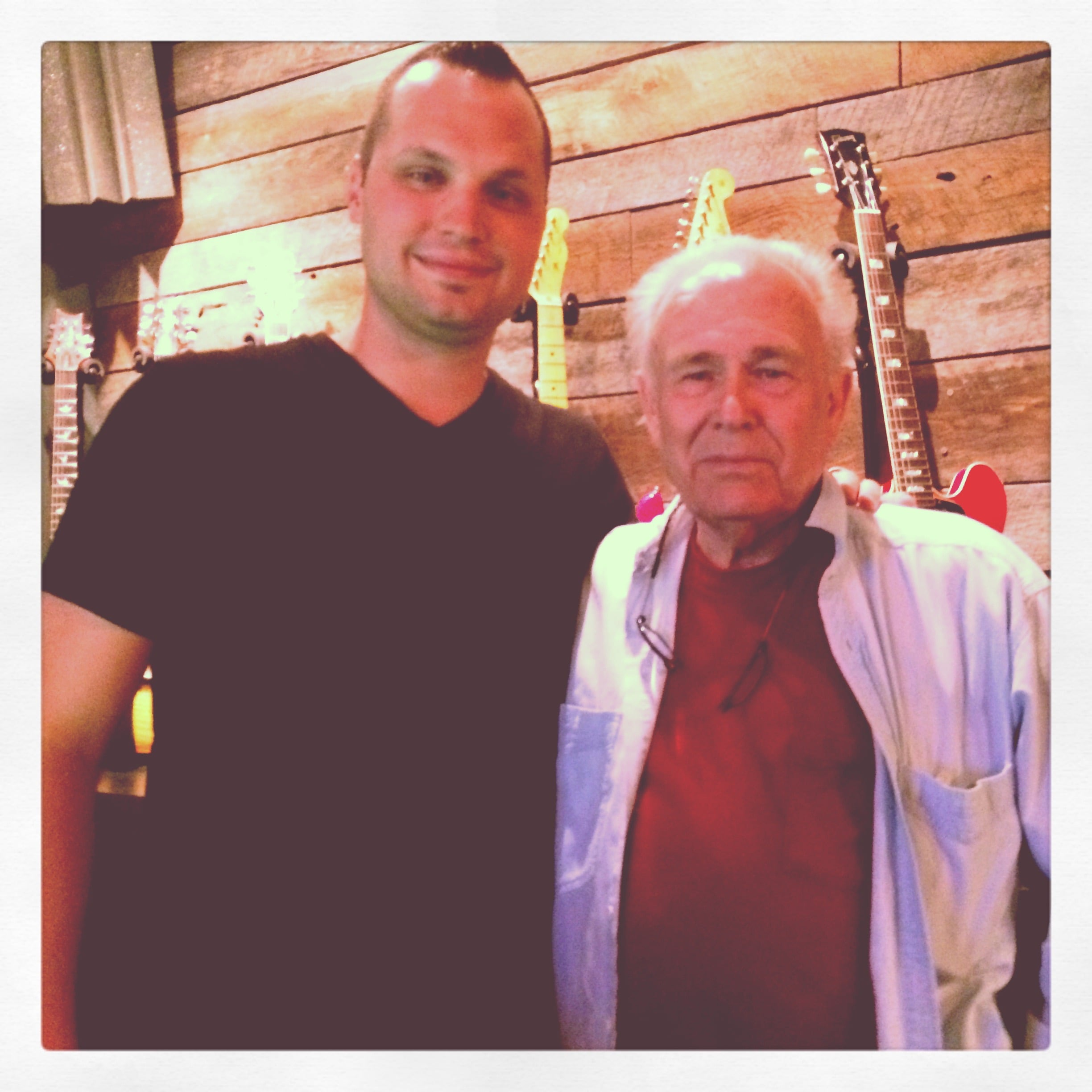 """Haxton Road Studios Owner Neil Greenhaw & Bob Brumley (Son of Albert E Brumley who wrote the most recorded gospel song in history -""""I'll Fly Away."""""""