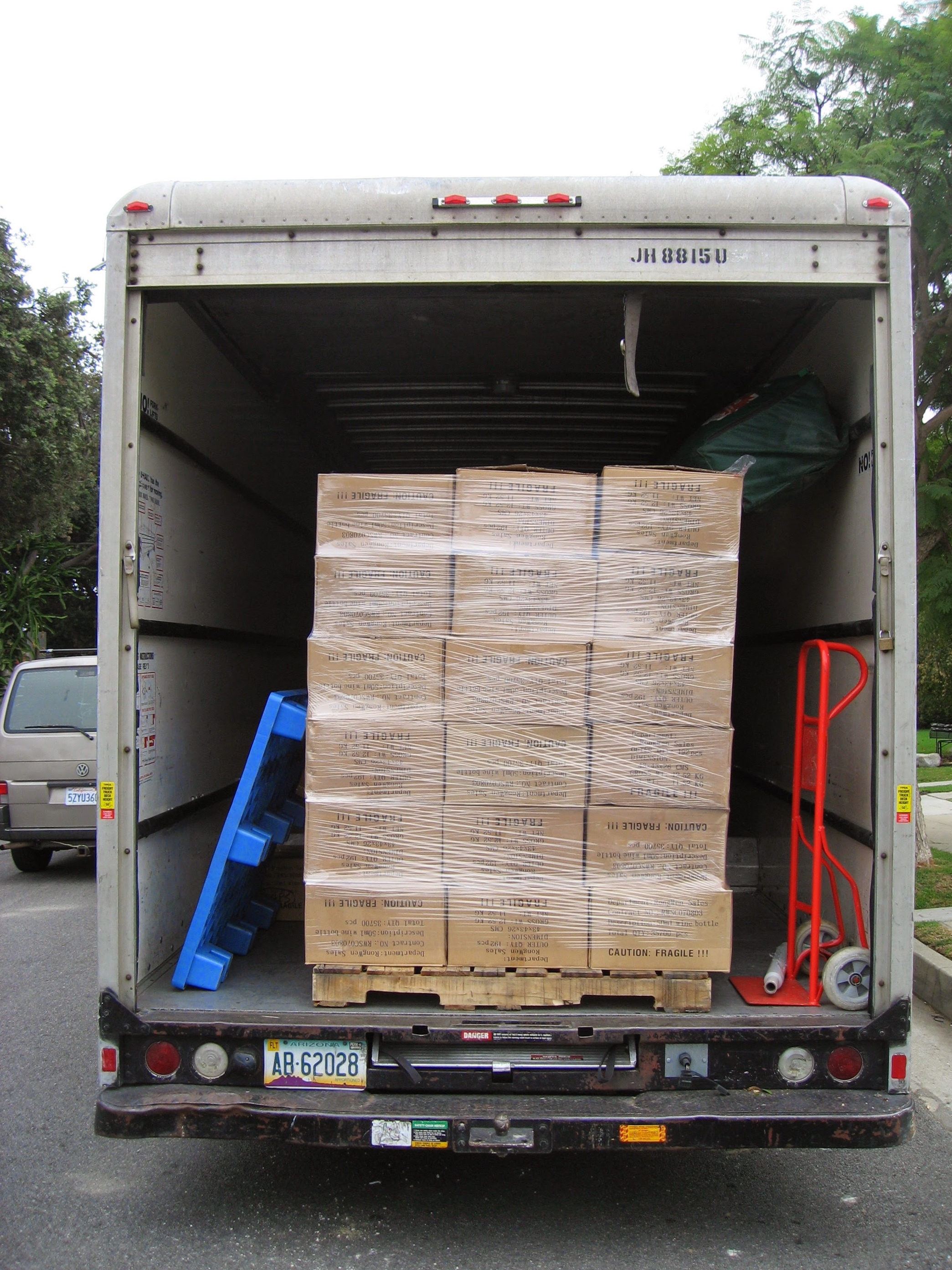If you find the contortions in yoga to be challenging, try stacking and wrapping pallets in a moving truck.