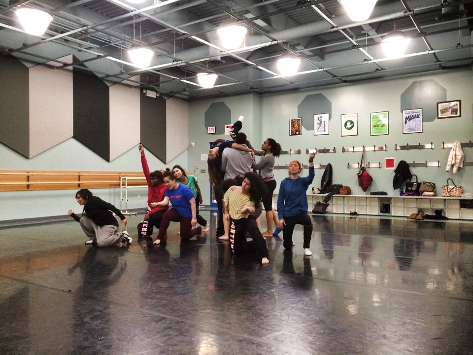 Irenerose setting work on East High dancers