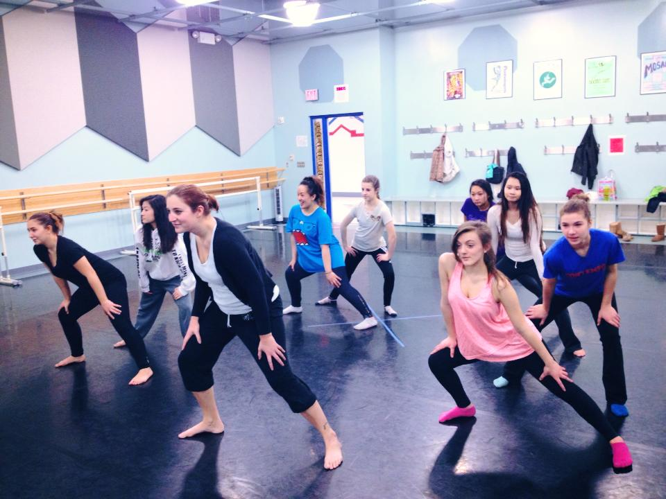 Therese working on Jazz with East dancers
