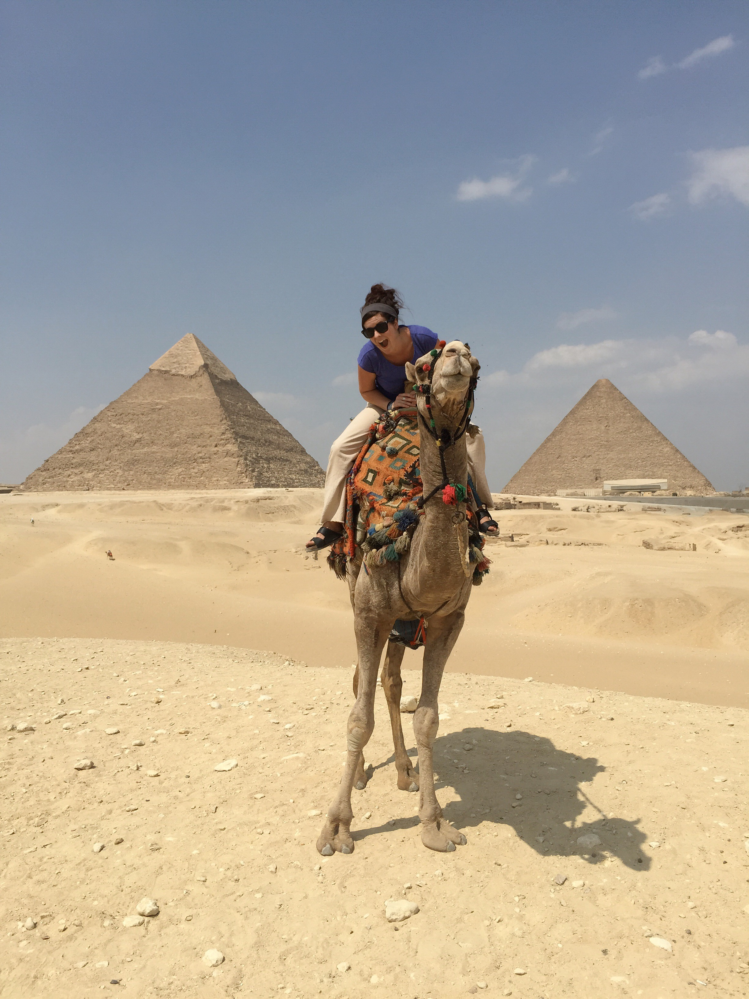 It's been a dream of mine since I was a kid to ride a camel around the Pyramids in Egypt. This fall I crossed it off my bucket list. If you ever get the chance to go to Egypt, TAKE IT! Better yet, make the chance. I can't wait to get back to the Middle East. It's welcoming, inspiring, delicious, and warm.