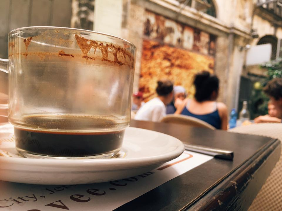 Coffee is my jam. I started working in coffee right out of high school, and it's been a pretty central part of my life ever since. Experiencing cafe culture around the world is one of my favorite pastimes. Sipping this Arabic coffee in Jerusalem is top of the charts: cardamom and ancient streets, amiright?
