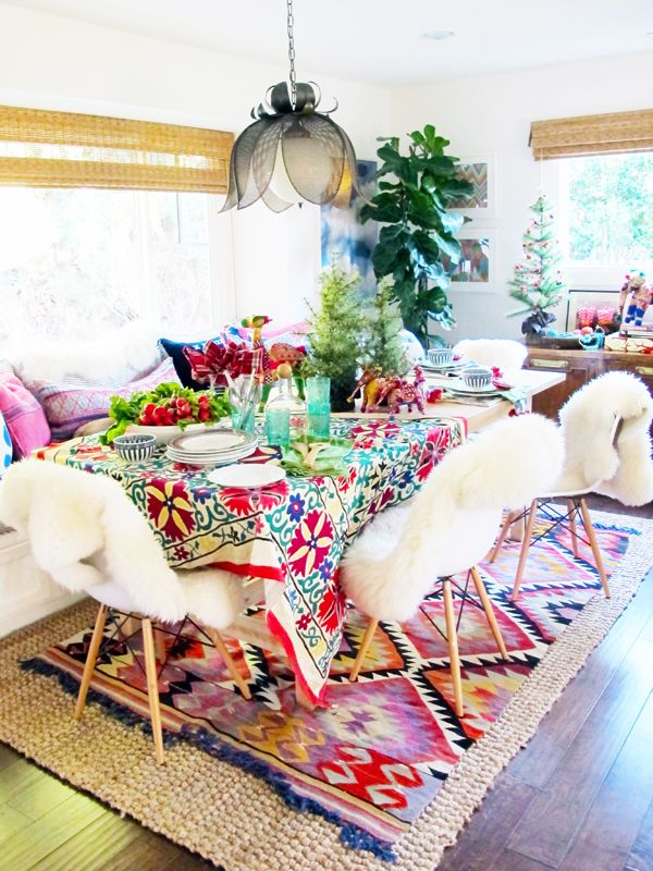 -via megbiram.com   (This room is a bit too colorful for me, but I'm really into the rugs and the chairs)