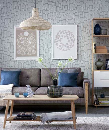 -Dominic Blackmore / Ideal Home, via Real Simple - lighthearted with a muted color scheme