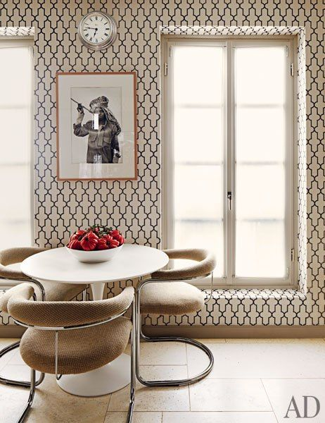 -room designed by Timothy Whealon, photo via Architectural Digest - classic pattern, yet decidedly modern