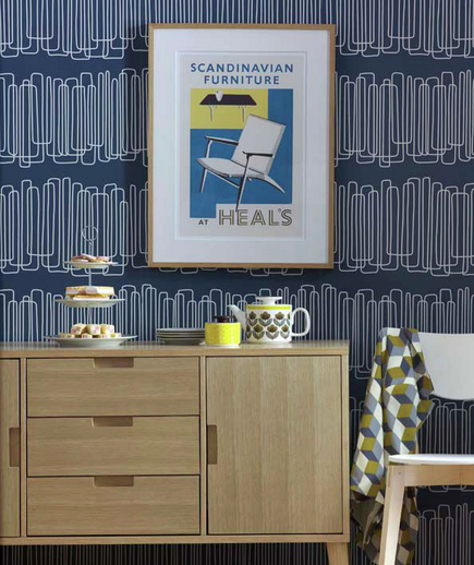 -via Real Simple - geometric pattern on a great background color, feels very modern