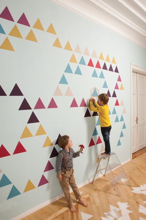 -via Design Milk, ZNAK's mosaic wall decals - pretty awesome alternative
