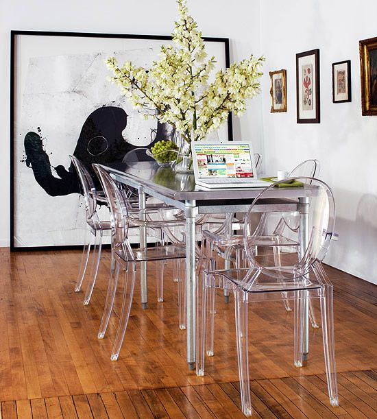 -Ghost Chairs, via Better Homes & Gardens