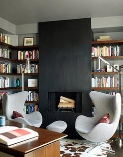-via nuit-artdecor.blogspot.com / I mean, weird, right?? More modern fireplace, but such a similar vibe...