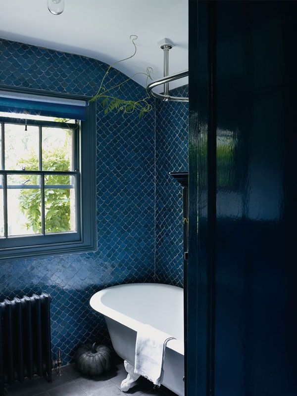 -via  Apartment 34  / It's like a mermaid's scales, with varying tones of blue...so beautiful