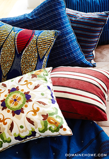 -via Domaine Home / Featuring African Textile Pillow by Nathan Turner