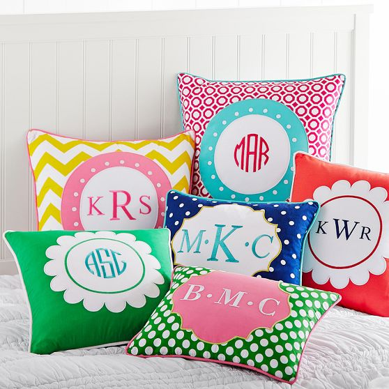 -via pbteen / These would be super cute in a kid's room.  Personalization is always fun.