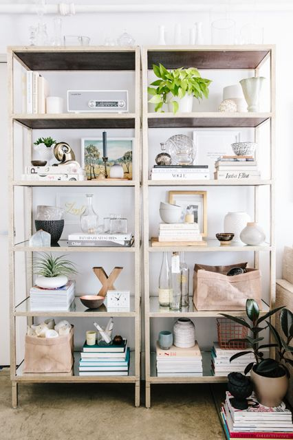 via refinery29.com / I love the neutral palette in this display. Very soothing.