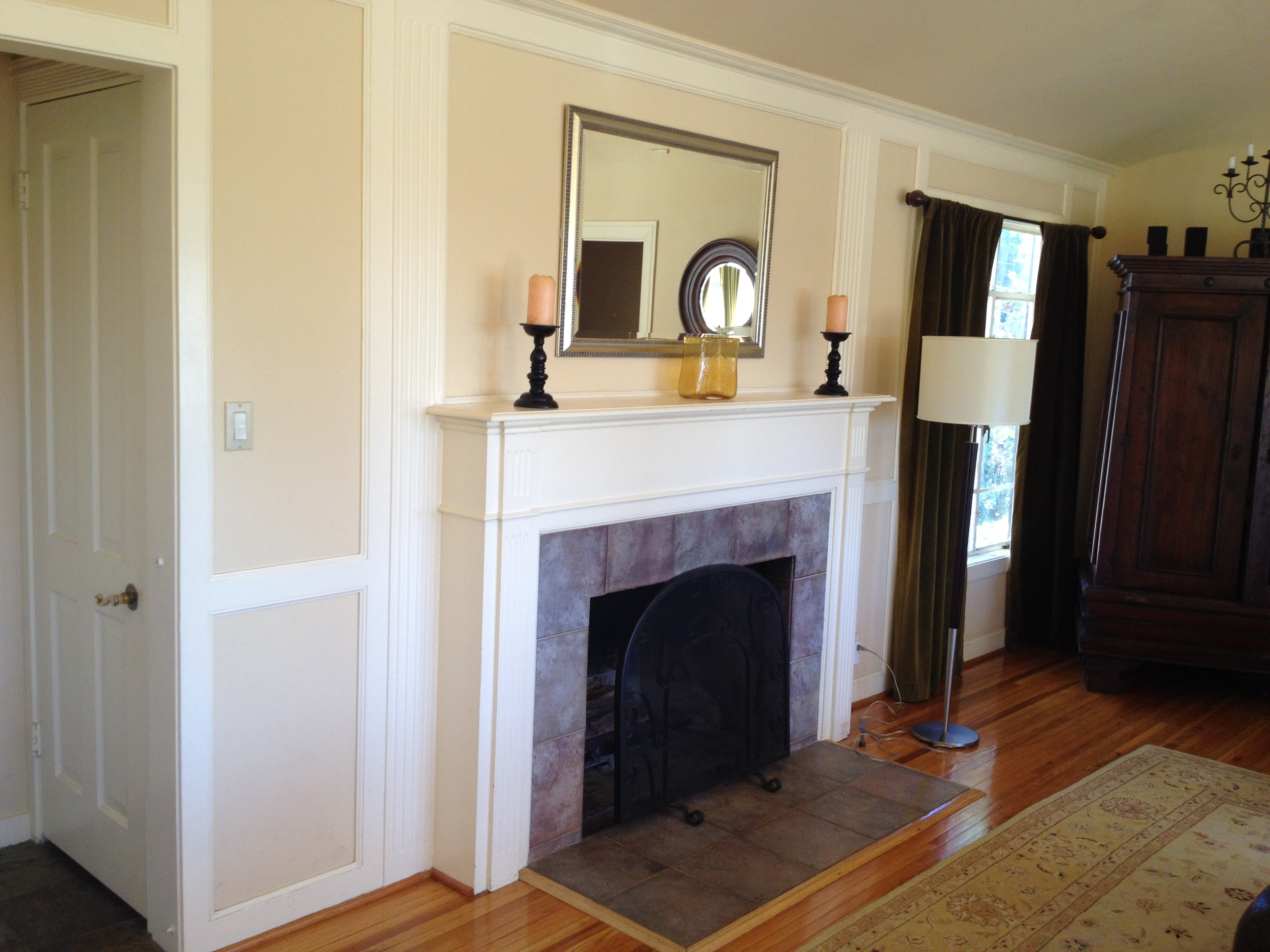 Fireplace - BEFORE / ceramic tile