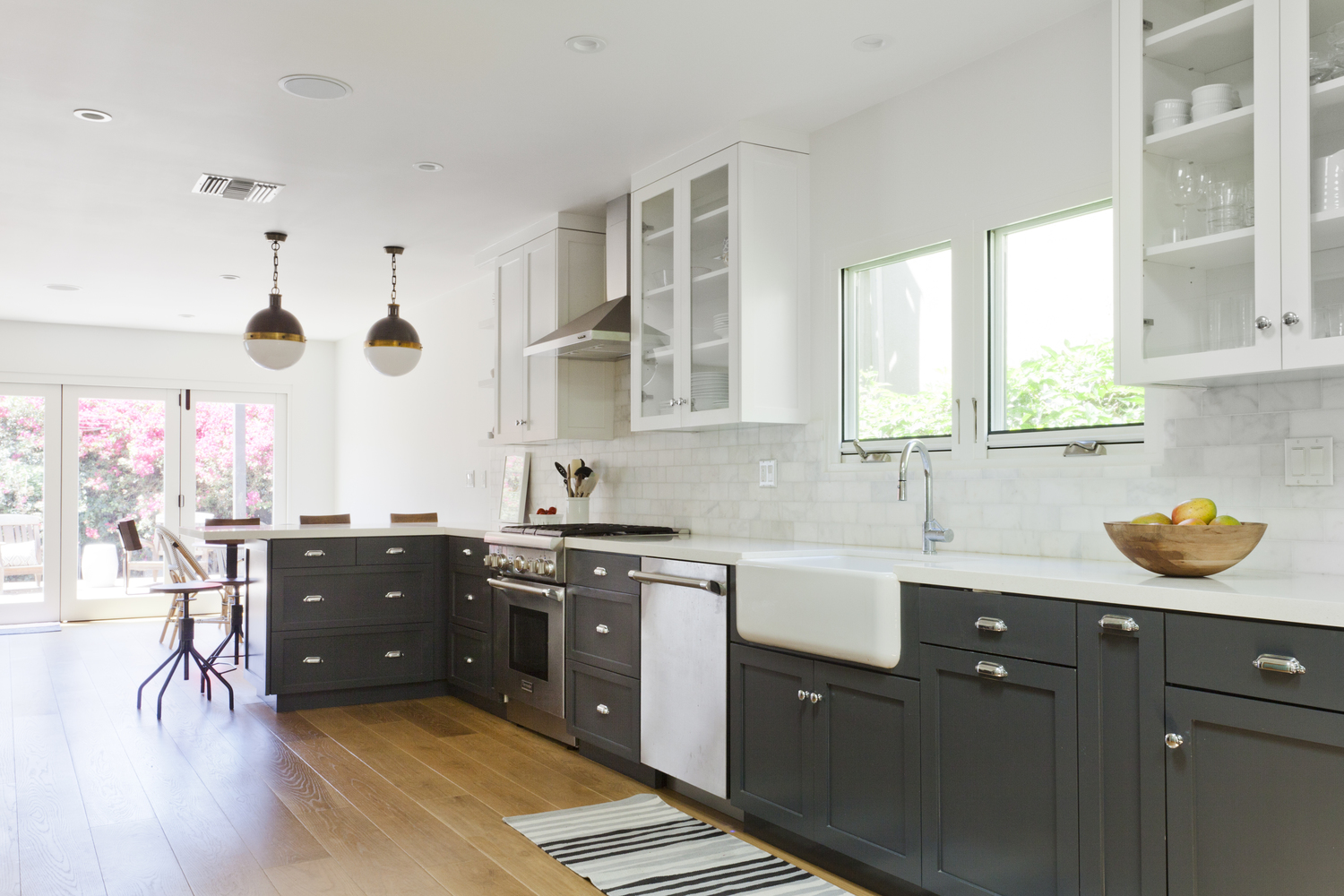 AFTER - the floors and kitchen of my client's (and my) dreams. - photo by  Heather Culp