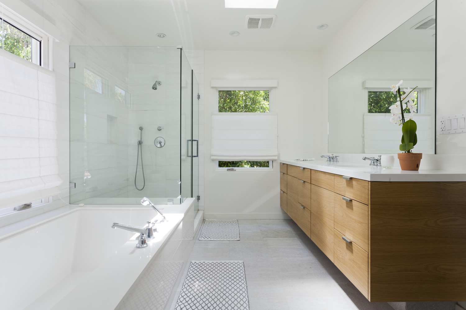 AFTER - This is the new master bathroom on the new second floor. - photo by  Heather Culp
