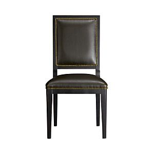 Crate and Barrel - Sonata Leather Side Chair - this one has a good balance of clean-lines and traditional design.